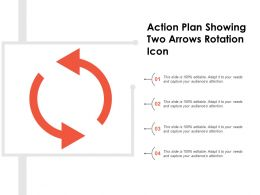 Action Plan Showing Two Arrows Rotation Icon
