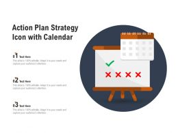 Action Plan Strategy Icon With Calendar