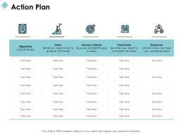 Action Plan Success Criteria Ppt Powerpoint Presentation File Pictures