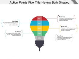 Action Points Five Title Having Bulb Shaped