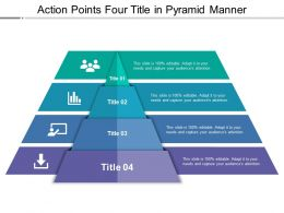 Action Points Four Title In Pyramid Manner