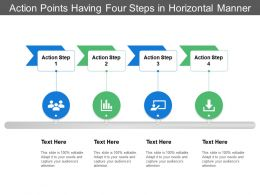 Action Points Having Four Steps In Horizontal Manner