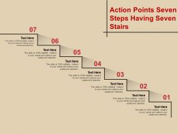 Action Points Seven Steps Having Seven Stairs