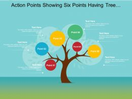 Action Points Showing Six Points Having Tree Shaped