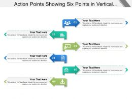 Action Points Showing Six Points In Vertical Manner