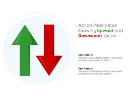 Action Priority Icon Showing Upward And Downwards Arrow