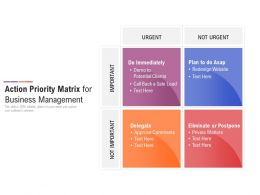 Action Priority Matrix For Business Management