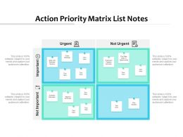 Action Priority Matrix List Notes