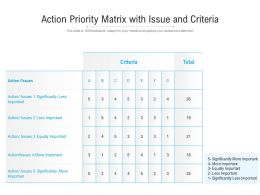 Action Priority Matrix With Issue And Criteria