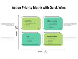 Action Priority Matrix With Quick Wins
