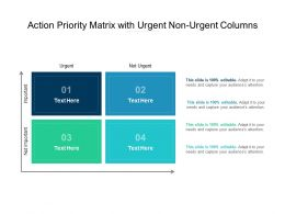 Action Priority Matrix With Urgent Non Urgent Columns