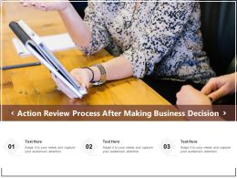 Action Review Process After Making Business Decision