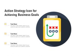 Action Strategy Icon For Achieving Business Goals