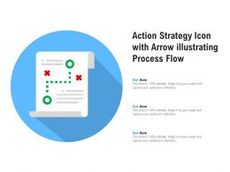 Action Strategy Icon With Arrow Illustrating Process Flow