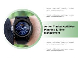 Action Tracker Activities Planning And Time Management