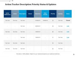 Action Tracker Activities Planning And Time Management Business Tasks