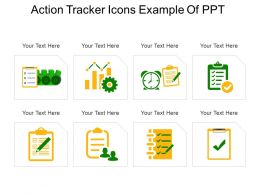Action Tracker Icons Example Of Ppt