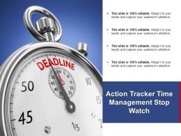 Action Tracker Time Management Stop Watch