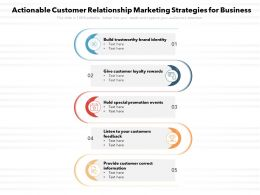 Actionable Customer Relationship Marketing Strategies For Business