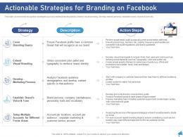 Actionable Strategies For Branding On Facebook Digital Marketing Through Facebook Ppt Grid