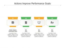 Actions Improve Performance Goals Ppt Powerpoint Presentation Infographics Background Cpb