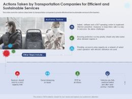 Actions Taken By Transportation Companies Social Distancing Ppt Presentation Example