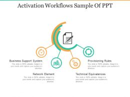 Activation Workflows Sample Of Ppt