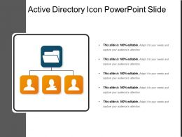 Active Directory Icon Powerpoint Slide