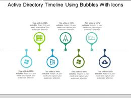 Active Directory Timeline Using Bubbles With Icons