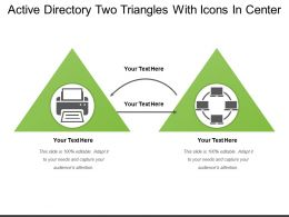 Active Directory Two Triangles With Icons In Center