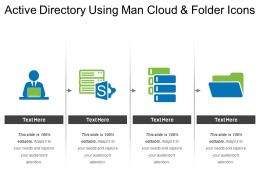 Active Directory Using Man Cloud And Folder Icons