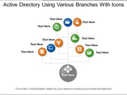 Active Directory Using Various Branches With Icons