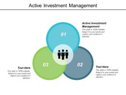 Active Investment Management Ppt Powerpoint Presentation Visual Aids Cpb