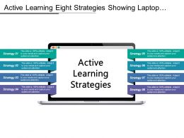 Active Learning Eight Strategies Star Shaped Having Text Boxes