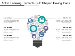 Active Learning Elements Bulb Shaped Having Icons