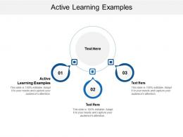 Active Learning Examples Ppt Powerpoint Presentation Summary Graphics Pictures Cpb