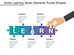 Active Learning Seven Elements Puzzle Shaped With Text Boxes