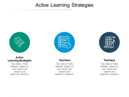 Active Learning Strategies Ppt Powerpoint Presentation Gallery Format Cpb