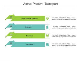 Active Passive Transport Ppt Powerpoint Presentation Infographics Background Cpb
