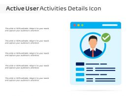 Active User Activities Details Icon
