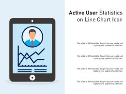Active User Statistics On Line Chart Icon