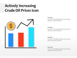 Actively Increasing Crude Oil Prices Icon