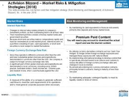 Activision Blizzard Market Risks And Mitigation Strategies 2018
