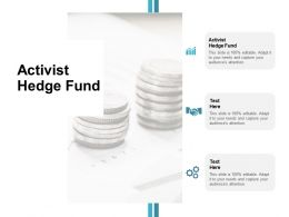 Activist Hedge Fund Ppt Powerpoint Presentation Icon Clipart Cpb