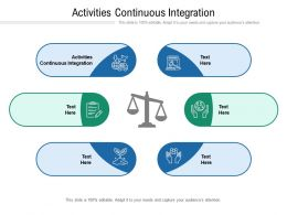 Activities Continuous Integration Ppt Powerpoint Presentation Layouts Images Cpb