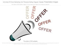 Activities Of Direct Marketing And Personal Selling Diagram Sample Presentation Images