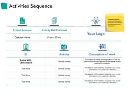 Activities Sequence Ppt Example File
