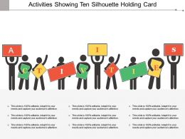 Activities Showing Ten Silhouette Holding Card