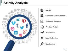 Activity Analysis Powerpoint Slide Templates