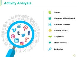 Activity Analysis Ppt Model Outfit